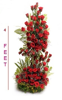 200 Red Roses in 3 Tier basket