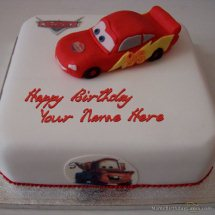 2 Kg Chocolate Car cake with toy car on top of cake