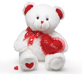 12 inch Teddy bear with love heart