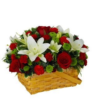 Short Stems of 4 White Lilies and 20 red roses